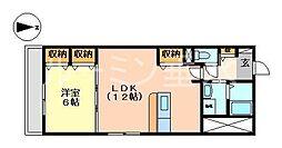 兵庫県神戸市垂水区泉が丘5の賃貸アパートの間取り