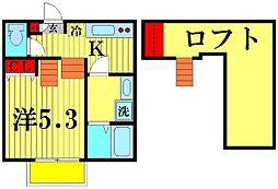 ブレッツァ北松戸[201号室]の間取り