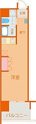 Osaka Metro中央線 朝潮橋駅 徒歩9分の賃貸マンション 6階1Kの間取り