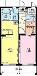 (仮)神宮東2丁目マンション 4階1LDKの間取り