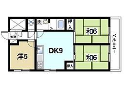 マンションナリタ[3階]の間取り