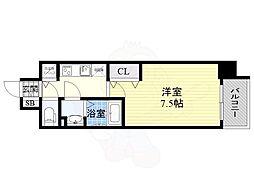 サムティ都島高倉町 8階1Kの間取り