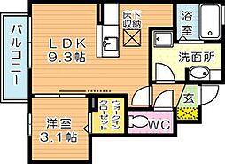 プレステージ二島 B棟[1階]の間取り