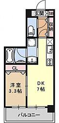 アクアプレイス京都洛南II[D204号室号室]の間取り
