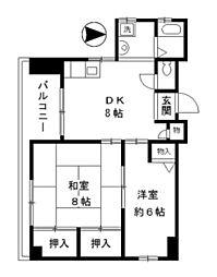 東京都墨田区業平1丁目の賃貸マンションの間取り