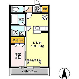 アドバンスS[2階]の間取り
