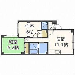 北海道札幌市白石区本通4丁目南の賃貸マンションの間取り