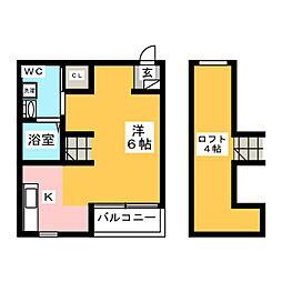Lea吉塚[2階]の間取り