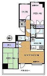 埼玉県さいたま市桜区山久保2丁目の賃貸マンションの間取り