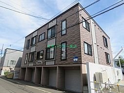 北海道札幌市東区北二十四条東3丁目の賃貸アパートの外観