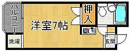 奈良県奈良市東笹鉾町の賃貸アパートの間取り