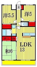 ヴァン新検見川[3階]の間取り