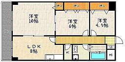 パークアベニュー藤ノ森[302号室]の間取り