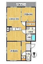 南戸塚スカイハイツ[3階]の間取り