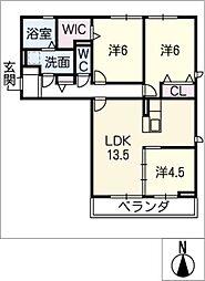 クレール メゾン[3階]の間取り