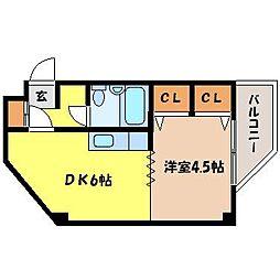 北海道札幌市北区北十三条西4丁目の賃貸マンションの間取り