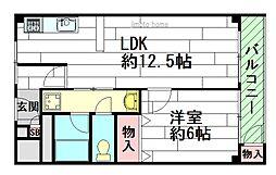 増田服部マンション[3階]の間取り