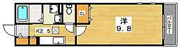 リナッセ東山[2階]の間取り