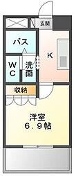 神奈川県伊勢原市桜台1の賃貸アパートの間取り