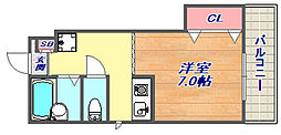 ハイツ本山南[3階]の間取り