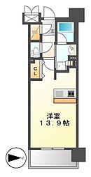 ロイヤルパークスERささしま[8階]の間取り