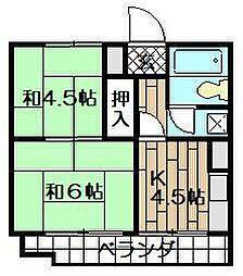 泰平小倉駅前ビル[603号室]の間取り