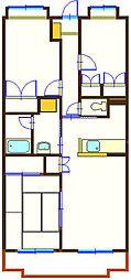 エクレール21[3階]の間取り