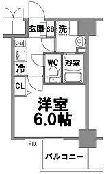 エスリード新大阪グランファースト[708号室]の間取り