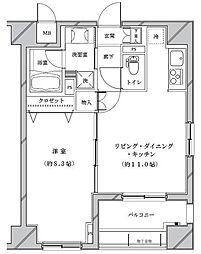 ライジングプレイス浅草参番館[2階]の間取り