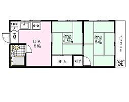 コスモハイツ平川[301号室]の間取り