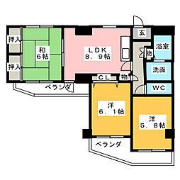 リバーパーク小田井[7階]の間取り
