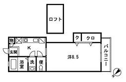 エクレール辻堂2[203号室]の間取り