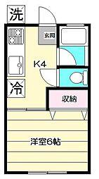東京都杉並区阿佐谷北3丁目の賃貸マンションの間取り