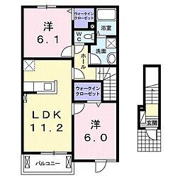 グレンディールI[2階]の間取り
