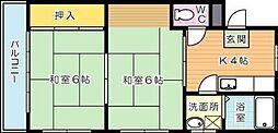 シャトレ穴生I[5階]の間取り