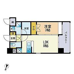 仮称)松香台1丁目マンション 4階1LDKの間取り