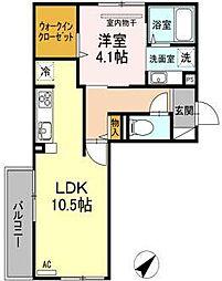 Kスタイル清水[2階]の間取り