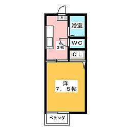 ツインコスモス B[2階]の間取り