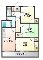 新栄プロパティー古市[1階]の間取り
