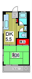 第二千葉マンション[3階]の間取り