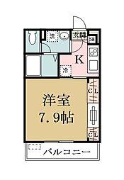 ie・chakio[203号室]の間取り