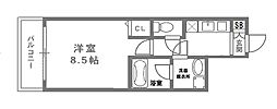 リバー・スクウェア103[6階]の間取り