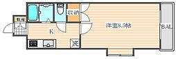 ロイヤル博多駅東84[10階]の間取り