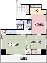 門田屋敷マンション[101号室]の間取り
