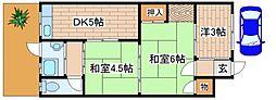 [一戸建] 兵庫県神戸市灘区赤坂通3丁目 の賃貸【/】の間取り