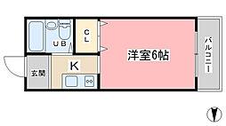 カーサブランカIII[203号室]の間取り