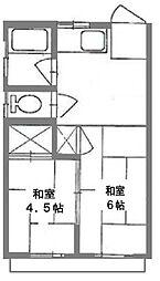 第二金子荘[202号室]の間取り