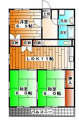 グリーンヒル5[2階]の間取り