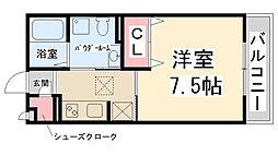 フロントハウス[B-105号室]の間取り