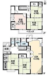 [一戸建] 埼玉県所沢市向陽町 の賃貸【/】の間取り